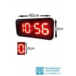 10 cm Harfli Dijital Saat Derece, Kasa: 20x40 cm