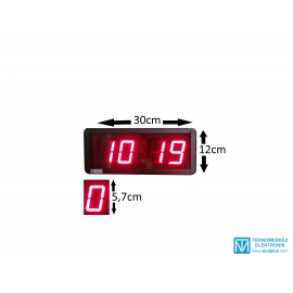 Dijital Saat Kasa Ölçüsü: 12x30 cm