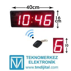 Kumandalı Kronometre Sn & Dk Sayıcı Kasa Ölçüsü: 16x40 cm
