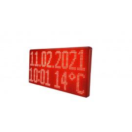 Ledli  Saat Derece Tarih Tabelası (Kasa Ölçüsü:35x70)
