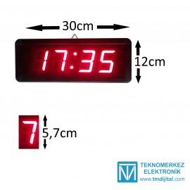 Dijital Merk. Ayarlı Okul Saati, Kasa: 12 x 30 cm