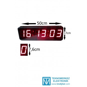 76 mm Disp. Çift Y. Sn.li Saat Derece, Kasa: 17x50  cm
