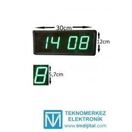 Dijital Saat Kasa Ölçüsü: 12x30 cm-Yeşil