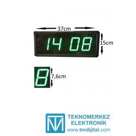 Dijital Saat Kasa Ölçüsü: 15x37 cm-Yeşil