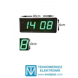 Dijital Saat Kasa Ölçüsü: 16x40 cm-Yeşil