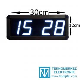 Dijital Saat Kasa Ölçüsü: 12x30 cm-Beyaz