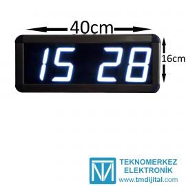 Dijital Saat Kasa Ölçüsü: 16x40 cm-Beyaz