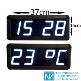 Dijital Saat Kasa Ölçüsü: 15x37 cm-Beyaz