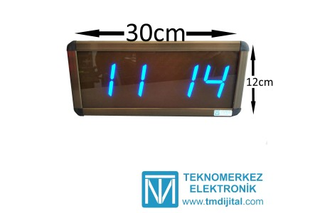 Dijital Saat Kasa Ölçüsü: 12x30 cm-Mavi