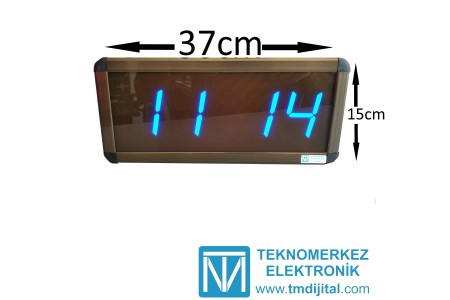 Dijital Saat Kasa Ölçüsü: 15x37 cm-Mavi