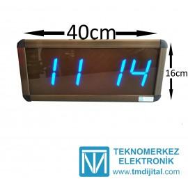 Dijital Saat Kasa Ölçüsü: 16x40 cm-Mavi