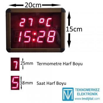 Dijital Saat Derece(Termometre) Kasa Ölçüsü: 15x20 cm