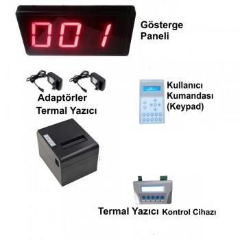 Kablolu Printer'lı LCD Keypad li Sıramatik (Numaratör) Sistemi