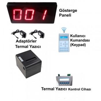 Kablosuz Printer'lı LCD Keypad li Sıramatik (Numaratör) Sistemi