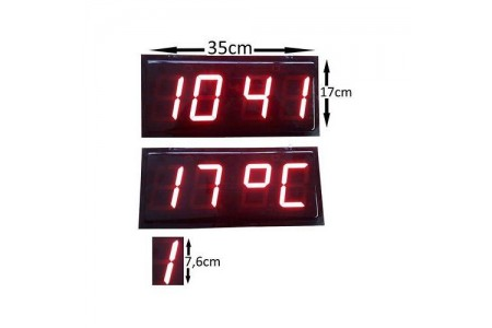 76 mm Displayli Dijital Dereceli Hamam Saati , Kasa: 17x35 cm
