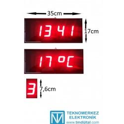 76 mm Displayli Dij. Hamam Saati, Kasa: 17x35 cm