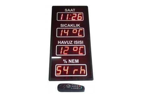 Havuz Saat-Derece-Nem, Kasa: 70x33 cm