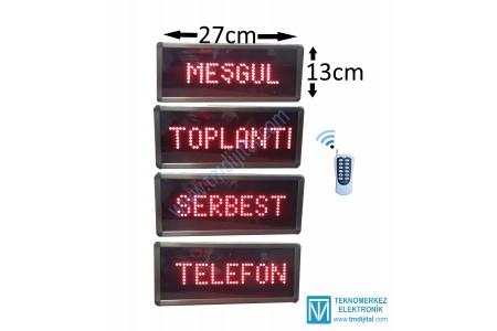 Kumandalı Meşgul Yazısı, Kasa: 13x27 cm.