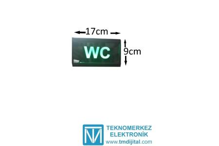 Ledli WC Yazısı, Kasa: 9x17 cm