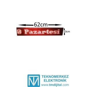 Dotmatrix Kayan Yazı, Kasa: 10x62 cm