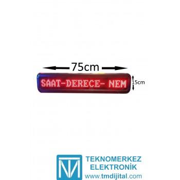 Dotmatix Kayan Yazı, Kasa: 15x75 cm