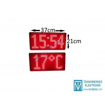 15 cm Harfli Modül Saat Derece, Kasa: 21x37 cm