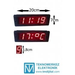 Dijital Otobüs Saat Derece, Kasa: 7x20 cm