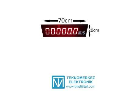 Poligon Hız Tabelası Kasa: 20x70 cm