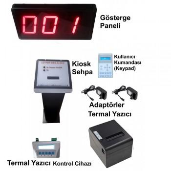 Kablolu Kiosk ve Printer'lı LCD Keypad li Sıramatik (Numaratör) Sistemi