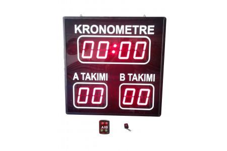 Halı Saha Skorbord Sistemi, Kasa: 60x60x5 cm