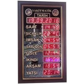 Dekoratif Cami Namaz Saati(Vakitmatik) Kasa Ölçüsü: 34x57cm